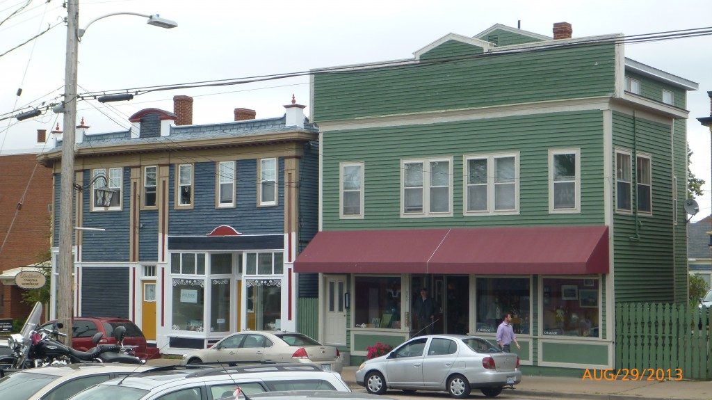 Some of the old buildings on George St. in Annapolis Royal