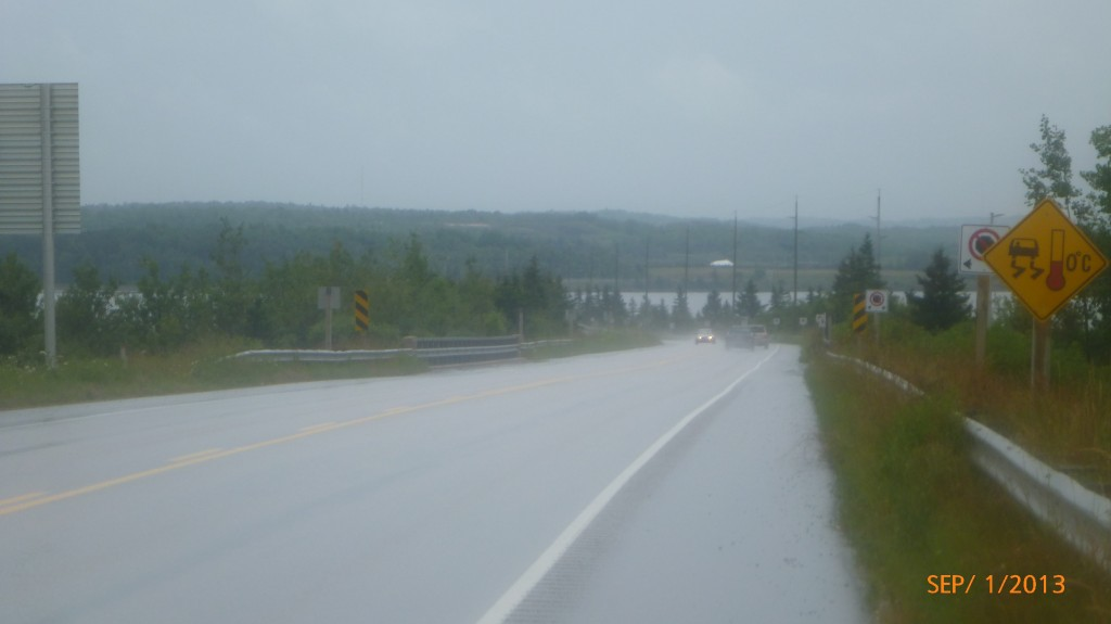 Entering a causeway just north of Pictou