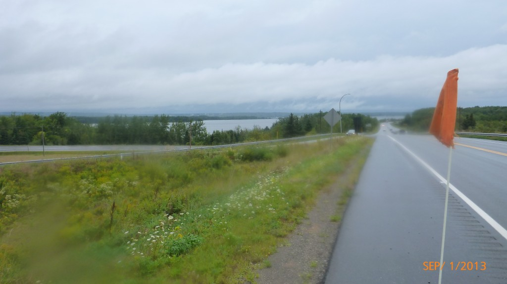 It doesn't look like much, but trust me, this hill stretched on for a couple km's