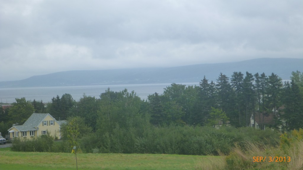 My first glimpse of Cape Breton Island