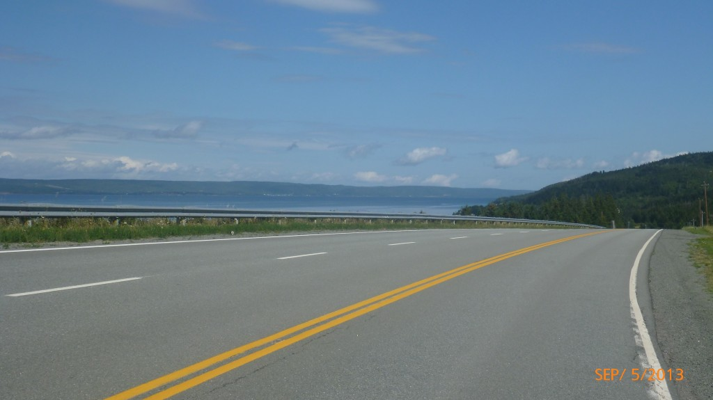 Over half the day was spent riding alongside Bras d'Or Lake