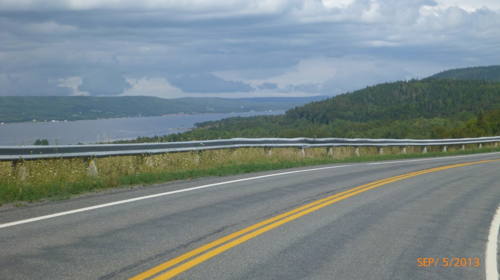 Starting to get to the narrower parts of Bras d'Or Lake