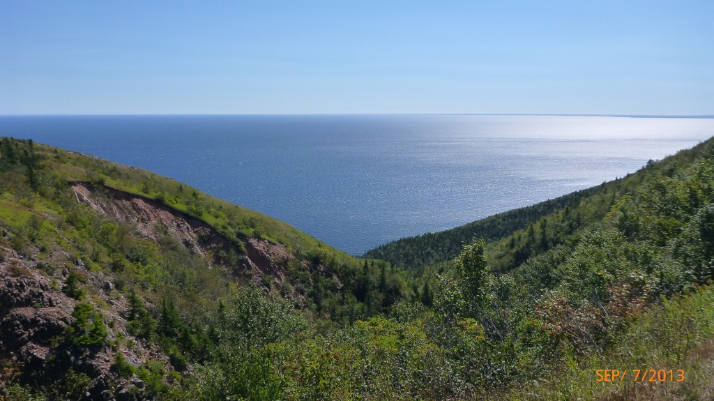 View along the east side of the Cabot Trail