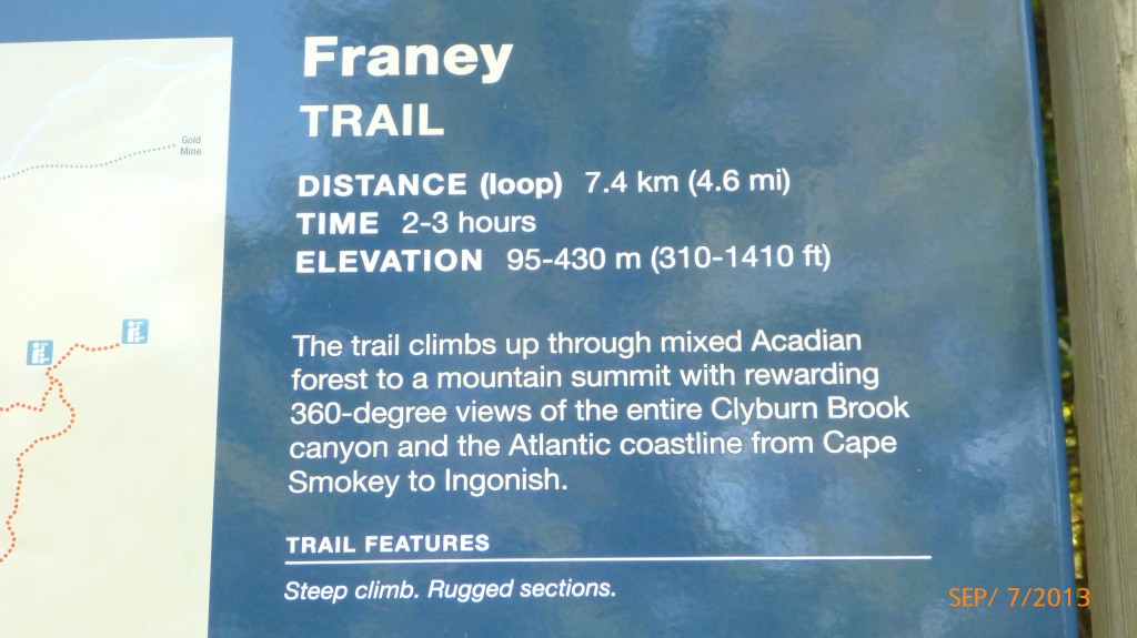 Some quick facts on the Franey Trail