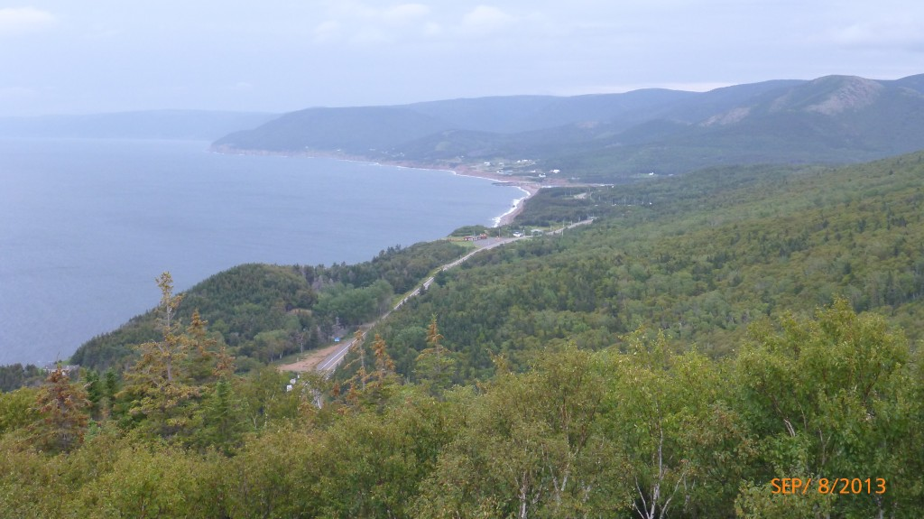 Now on the west side of the cabot trail
