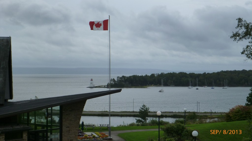 By the Alexander Graham Bell museum, overlooking Bras d'Or Lake