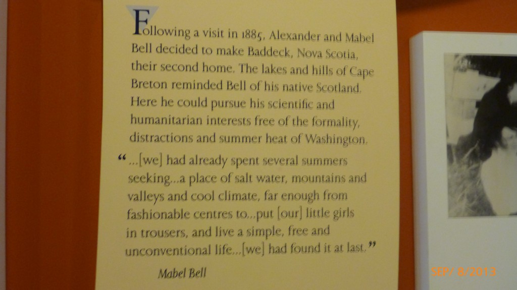 Why the Bell's chose to make Baddeck, NS their vacation home