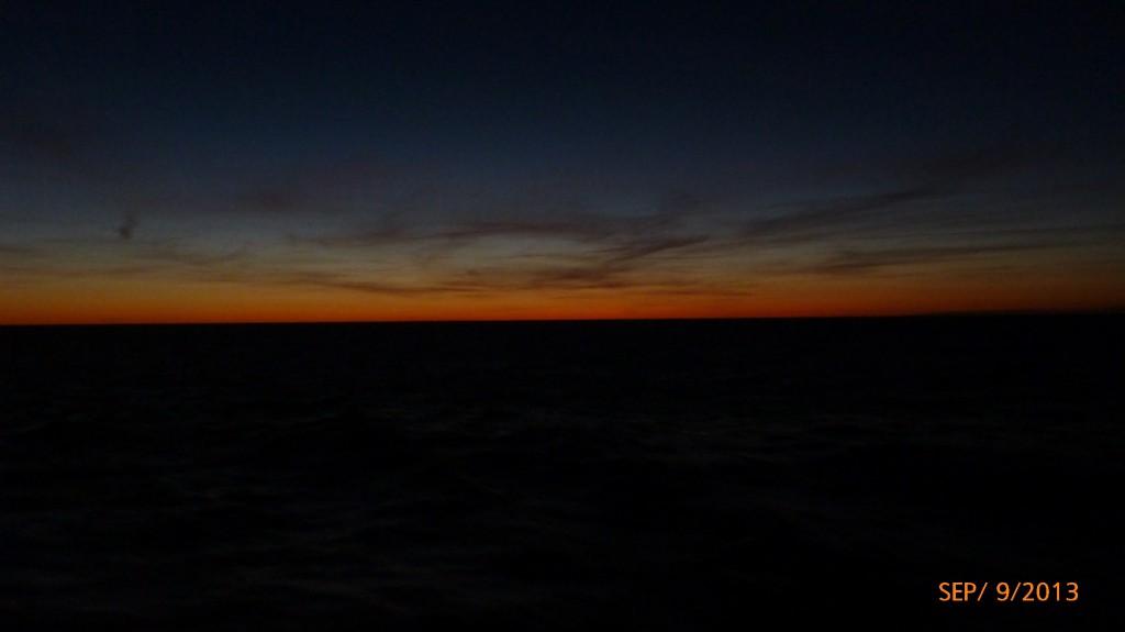 Sun is now set