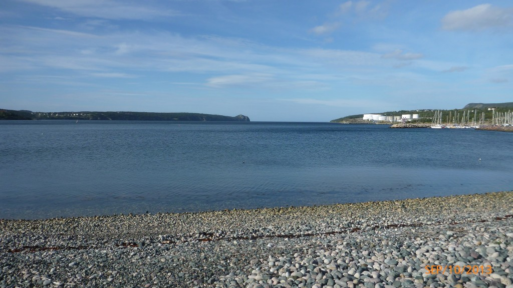 Looking out on conception bay from Holyrood