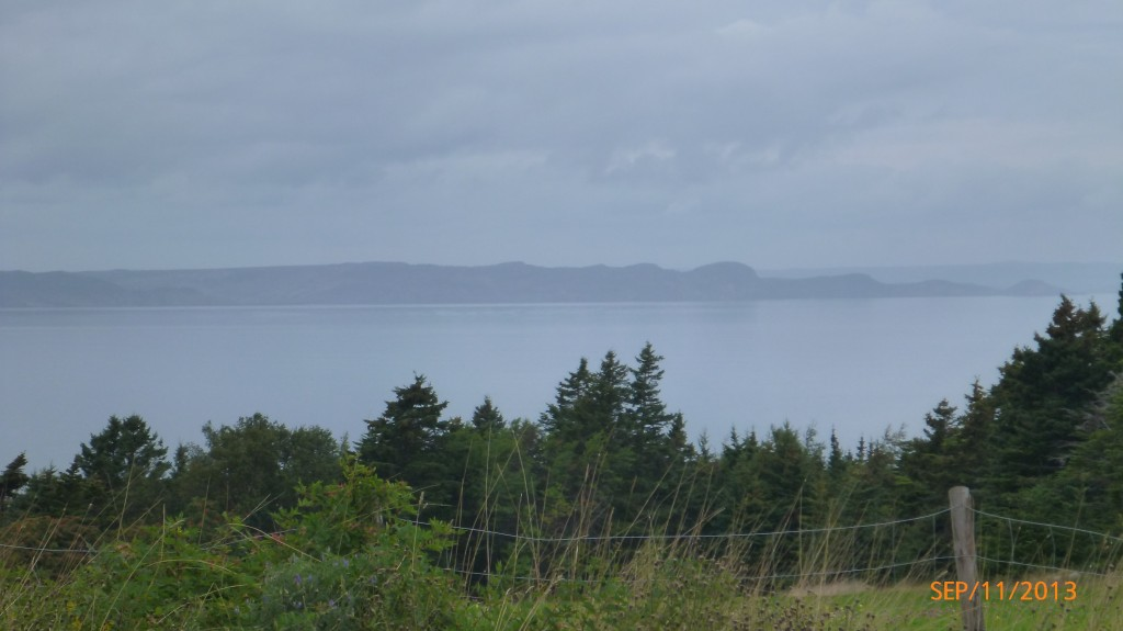 Overlooking conception bay