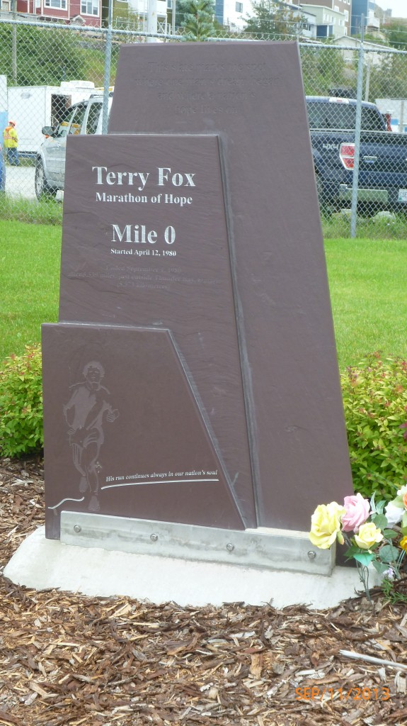 The Mile 0 Terry Fox monument in St. John's