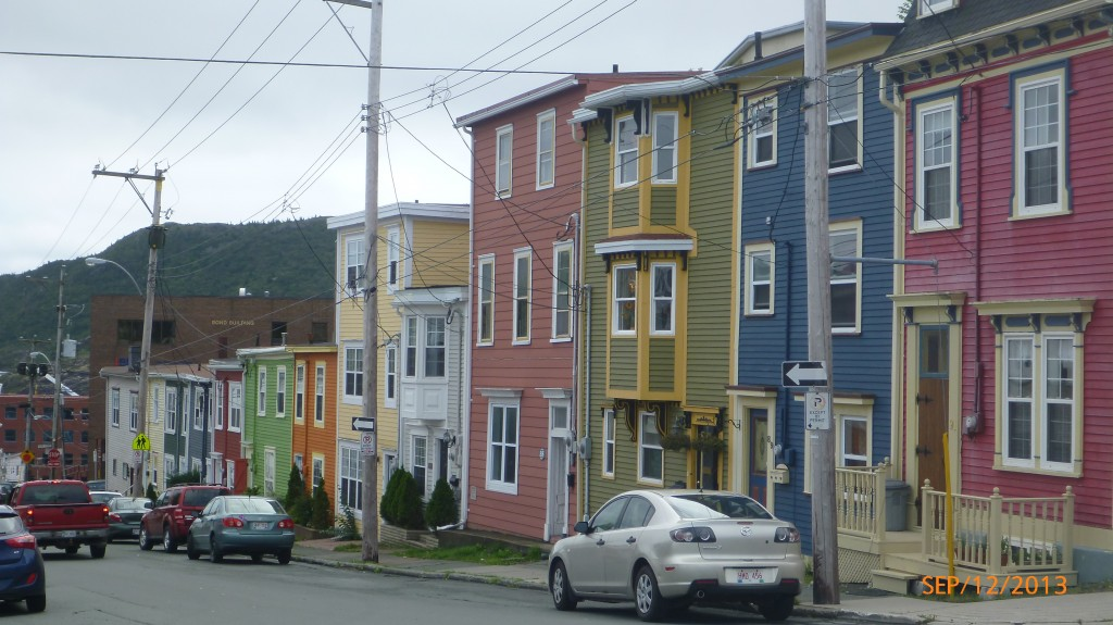 These bright colors were quite common on the houses in St. John's