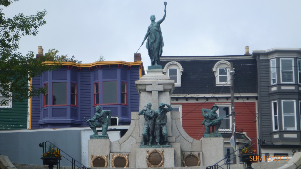 Statue at the main square in St. John's