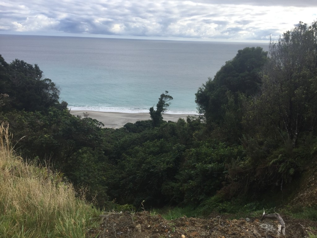 Starting to get glimpses of the Tasman Sea