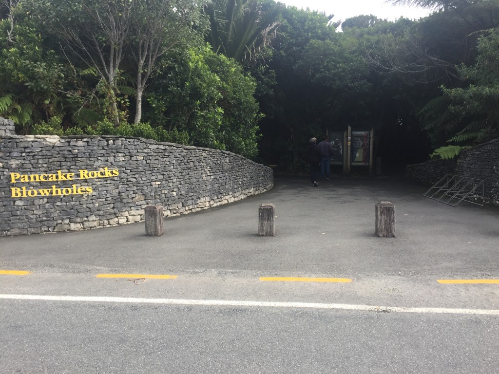 Entrance to Pancake Rock trail