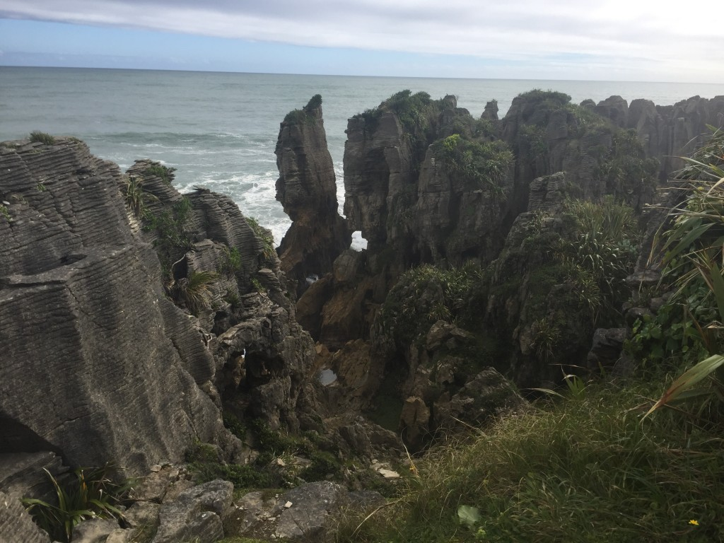 Pancake rocks - according to the info posted, they haven't quite been able to explain yet why the rocks is formed in layers