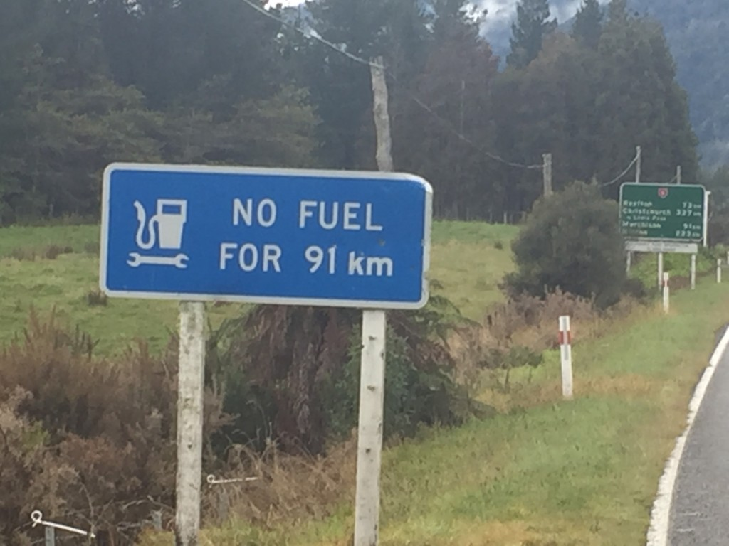 A sure sign that we are headed for some remote areas again....