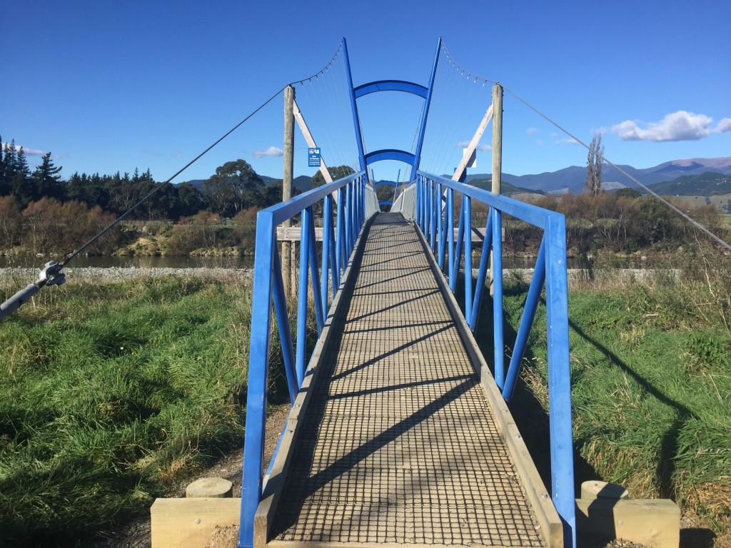 A cycle/pedestrian bridge on the Great Taste Trail