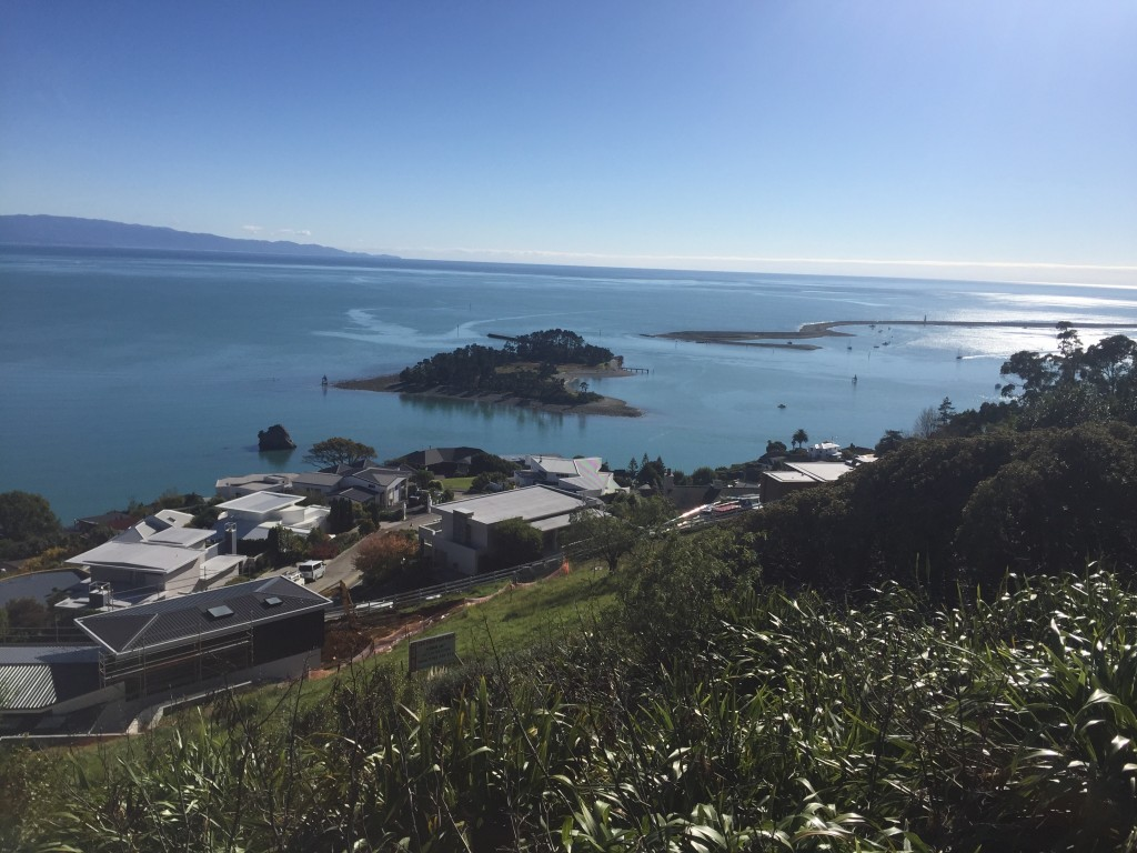 A quick stop at a lookout in Nelson, overlooking the Tasman Bay