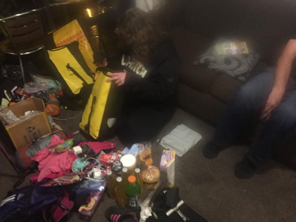 Organizing my gear amongst panniers