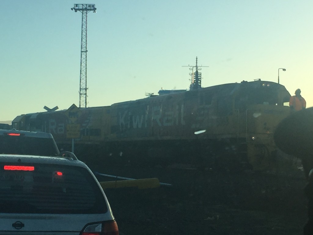 Spotted my first train of the trip while waiting to check in the vehicle at the ferry in Picton