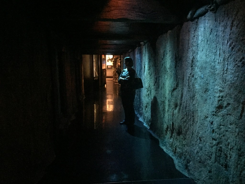 Walking through a mimic of the trenches