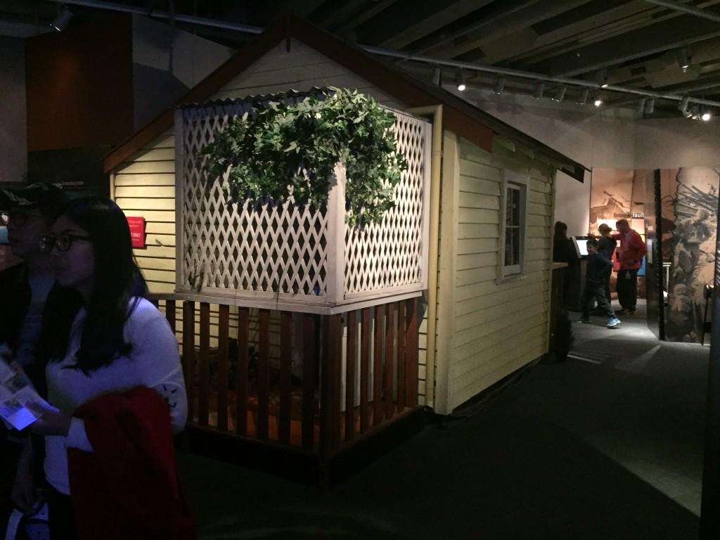 A shaking house to mimic what an earthquake would feel like