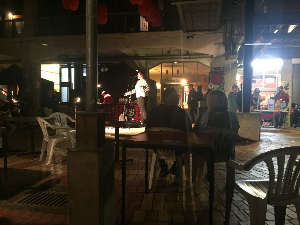 Mostly food stalls, but some entertainment at the night market as well