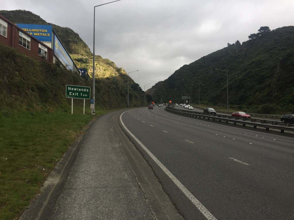 Part of the climb out of Wellington