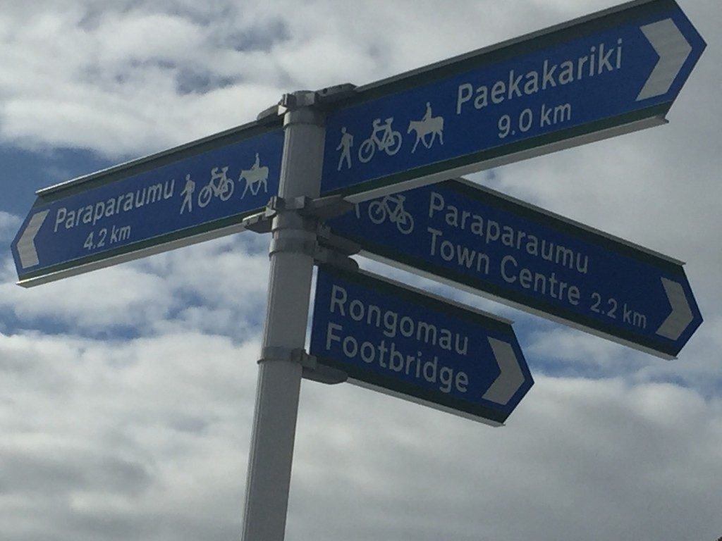 Cycle path signs