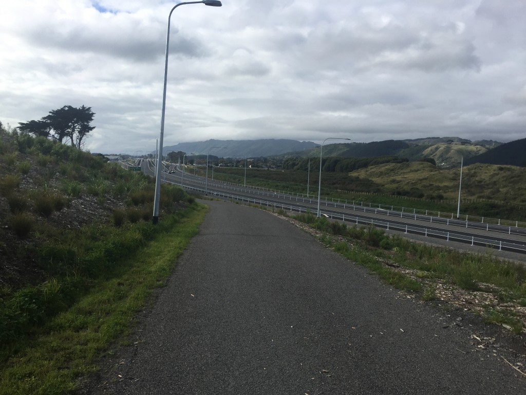 The cyclists 'alternative route' as per the sign on the highway