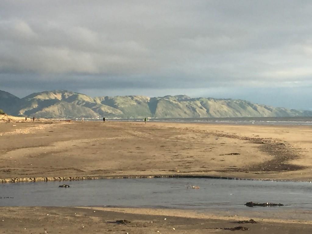 Looking back at the escarpment