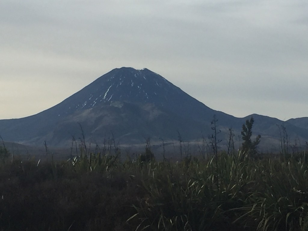A closer view of Mount Ngauruhoe