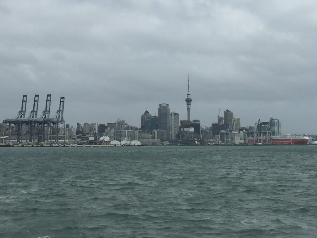 Auckland from the ferry back to Devonport (north suburb of Auckland)