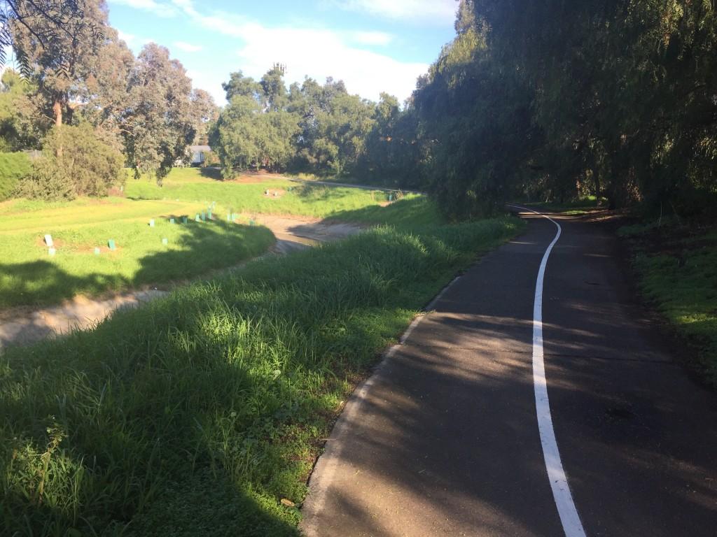 Bike path following the creek
