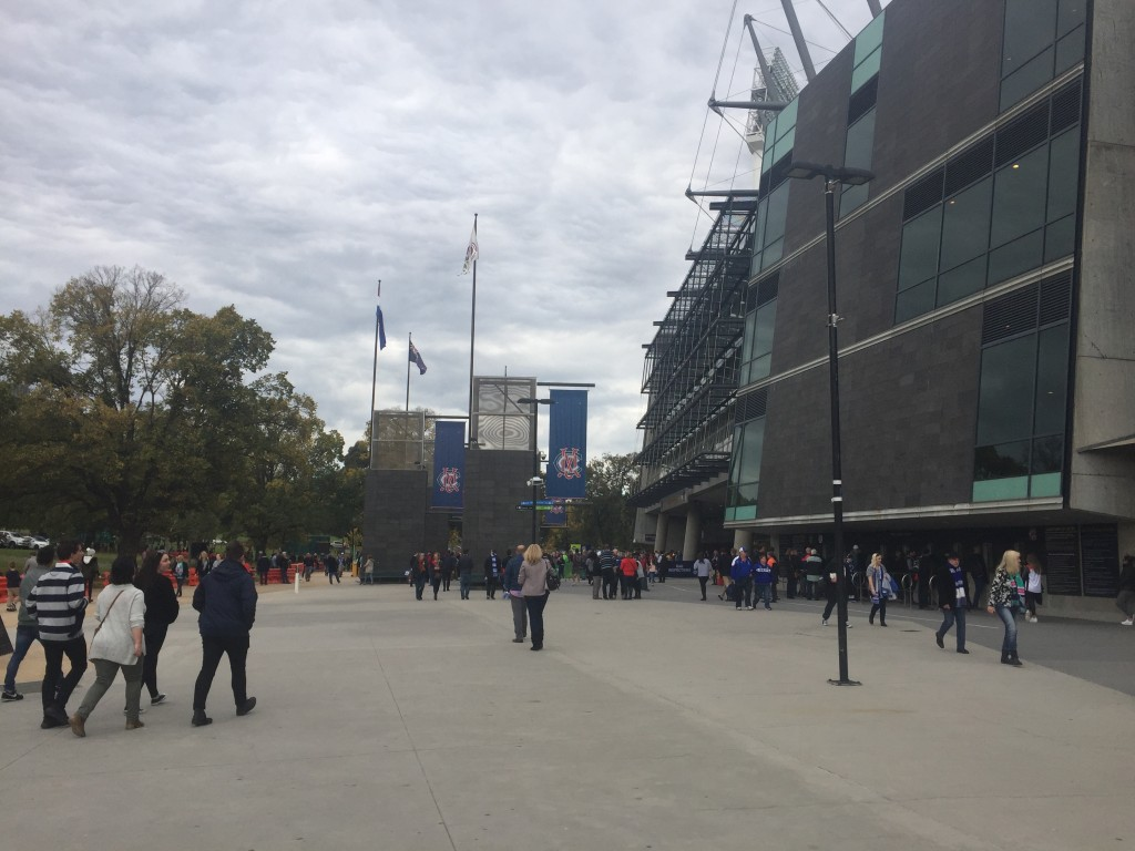 Outside of MCG before the game