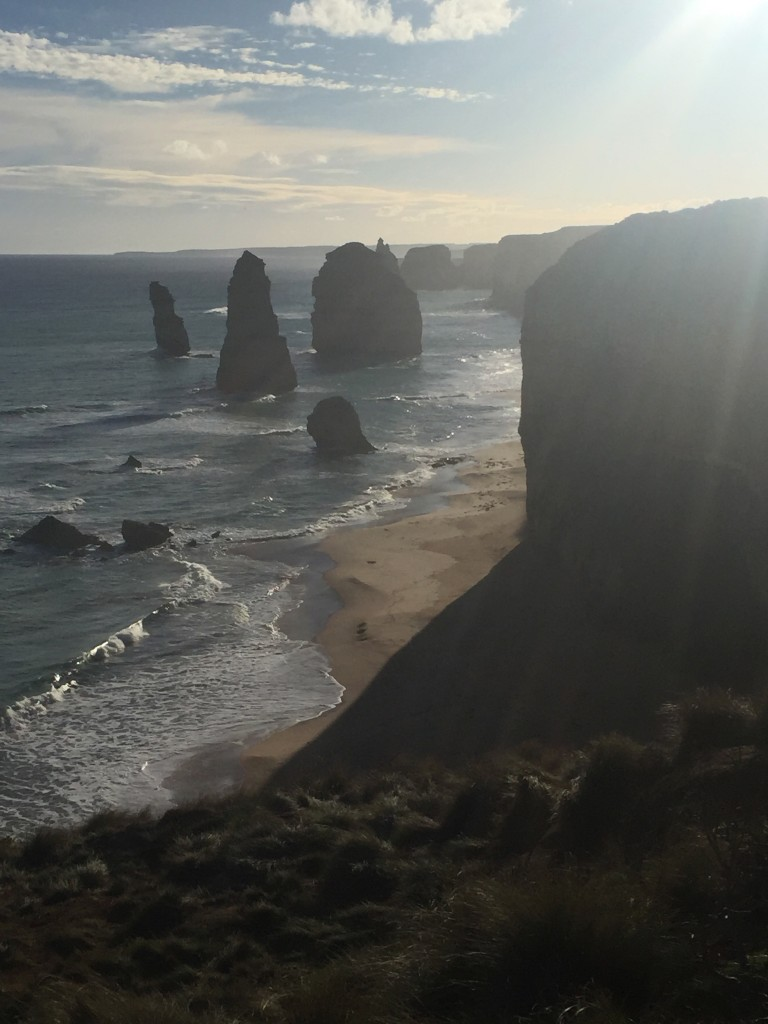 The twelve, or 6 apostles?  Due to the sun, I wasn't able to get a good picture with all of them