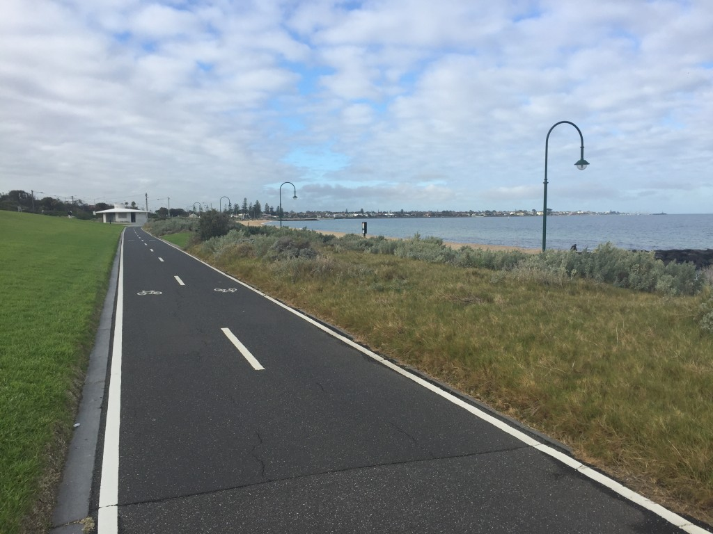 Dedicated bike paths along the coast - that's the life for me!