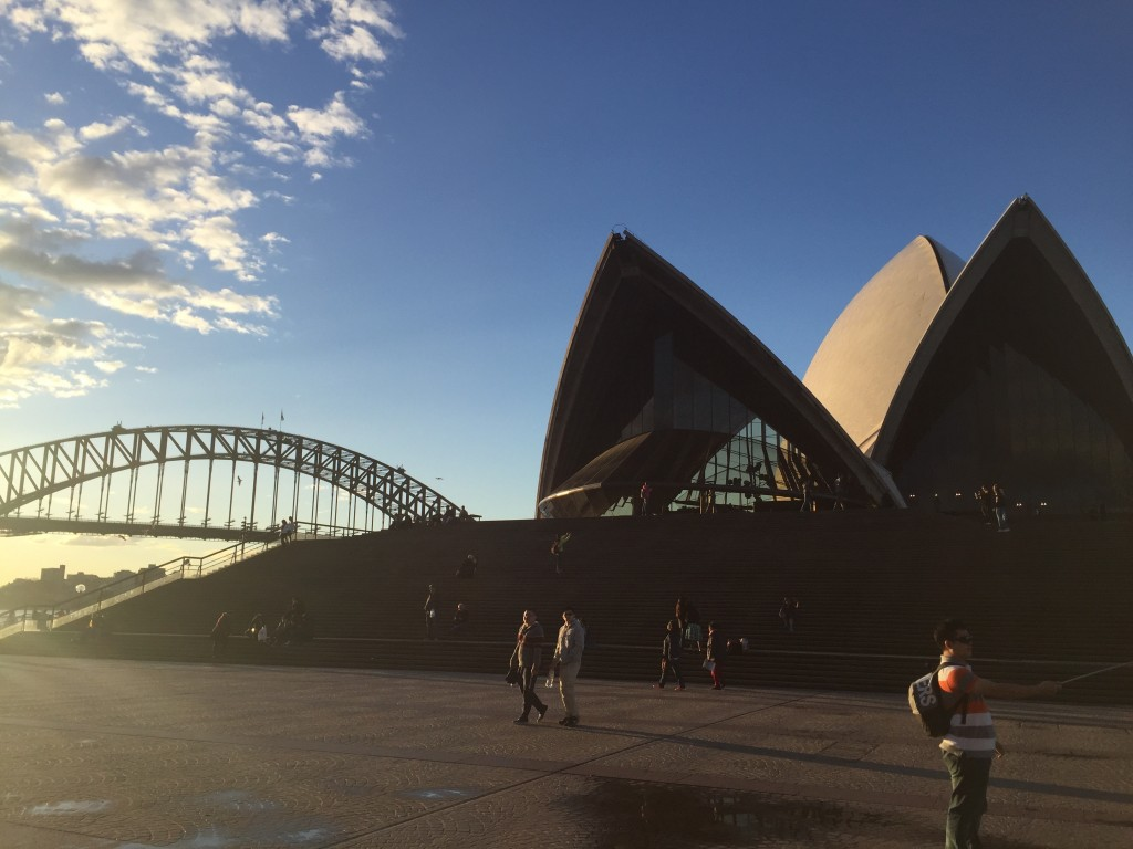 Probably the two most iconic Sydney landmarks: 1) Opera House and 2) Harbour Bridge