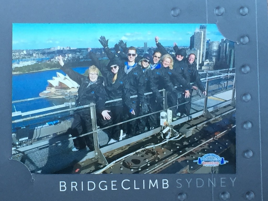 This group pic was taken at the top of the bridge by our guide Kevin