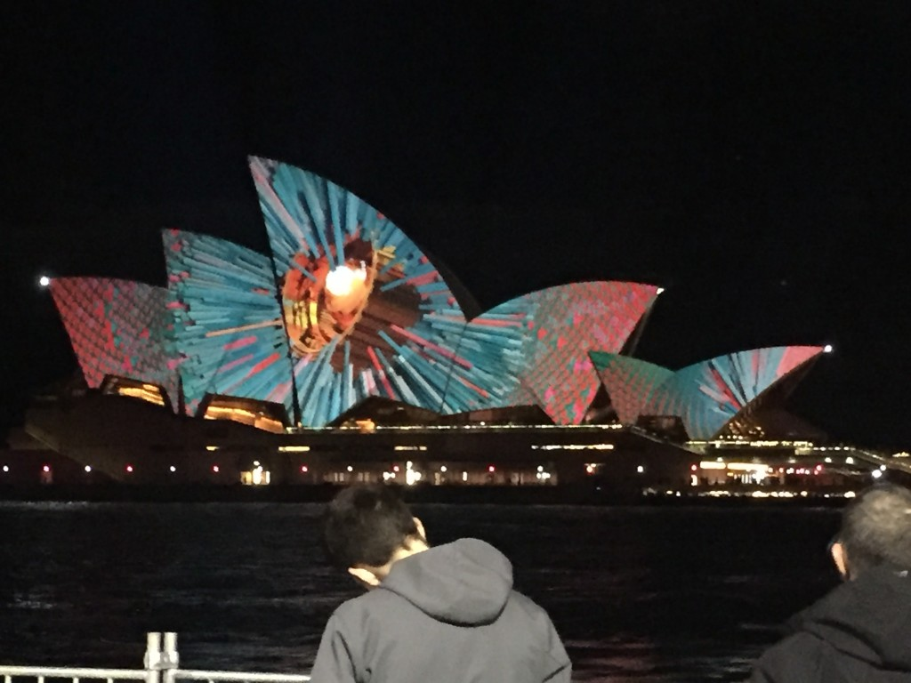 Another picture on the opera house during Vivid