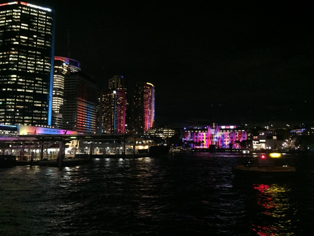 A view of the city during Vivid