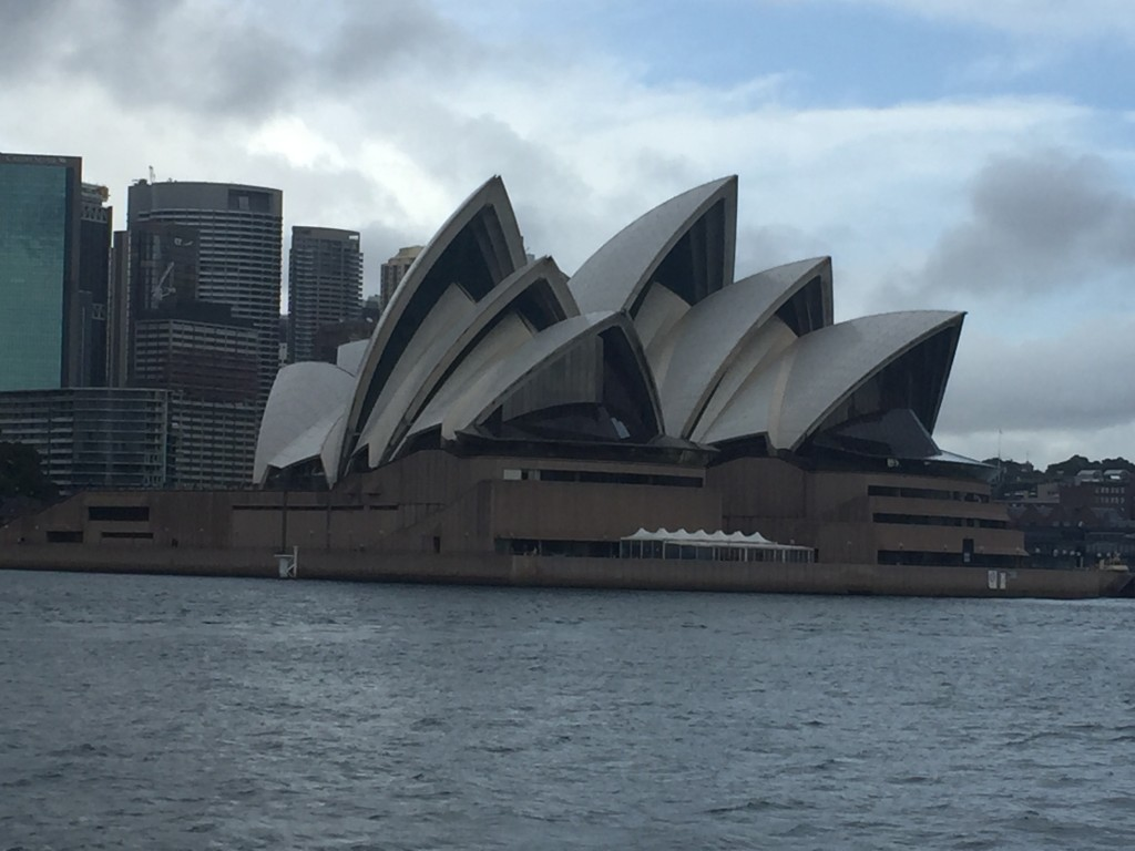A final view of the opera house from the ferry
