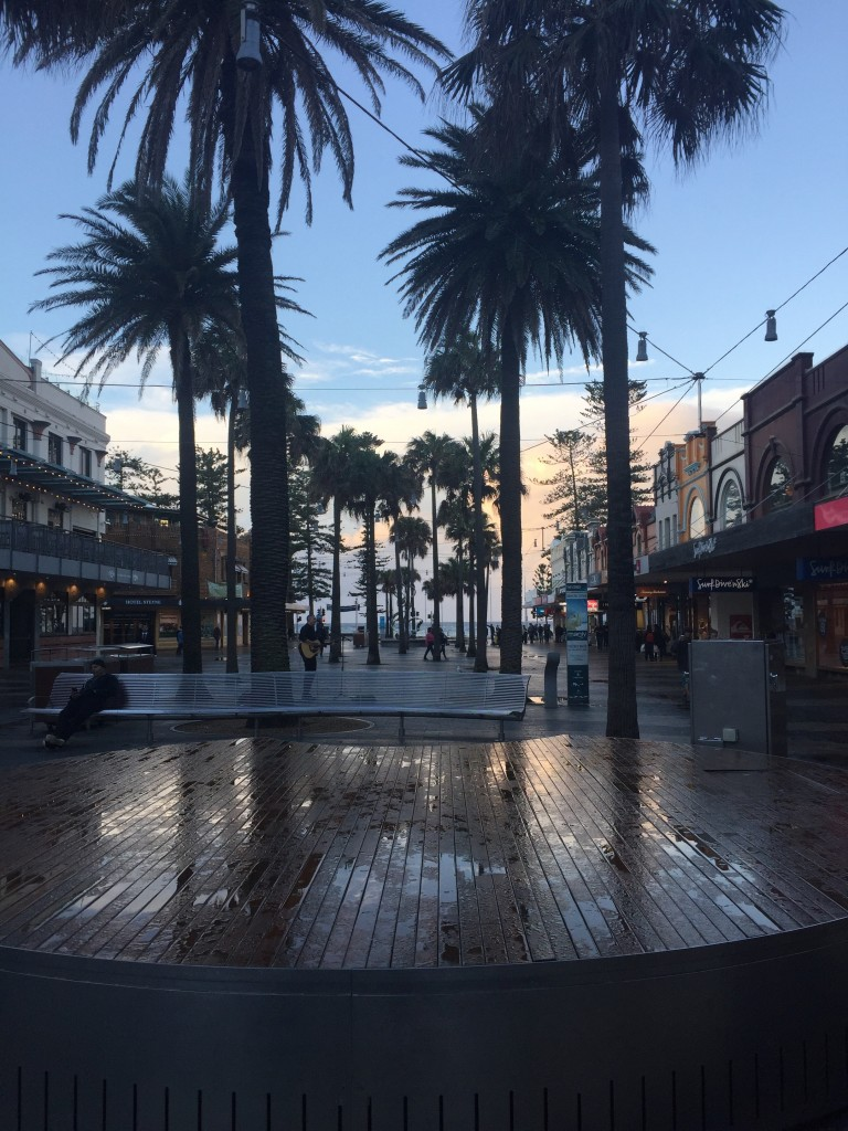 The main strip of Manly Beach