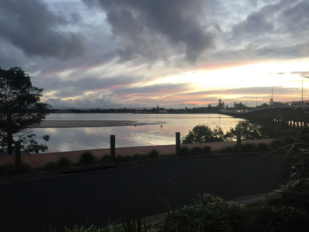 Sunsetting over Coolongolook River in Forster