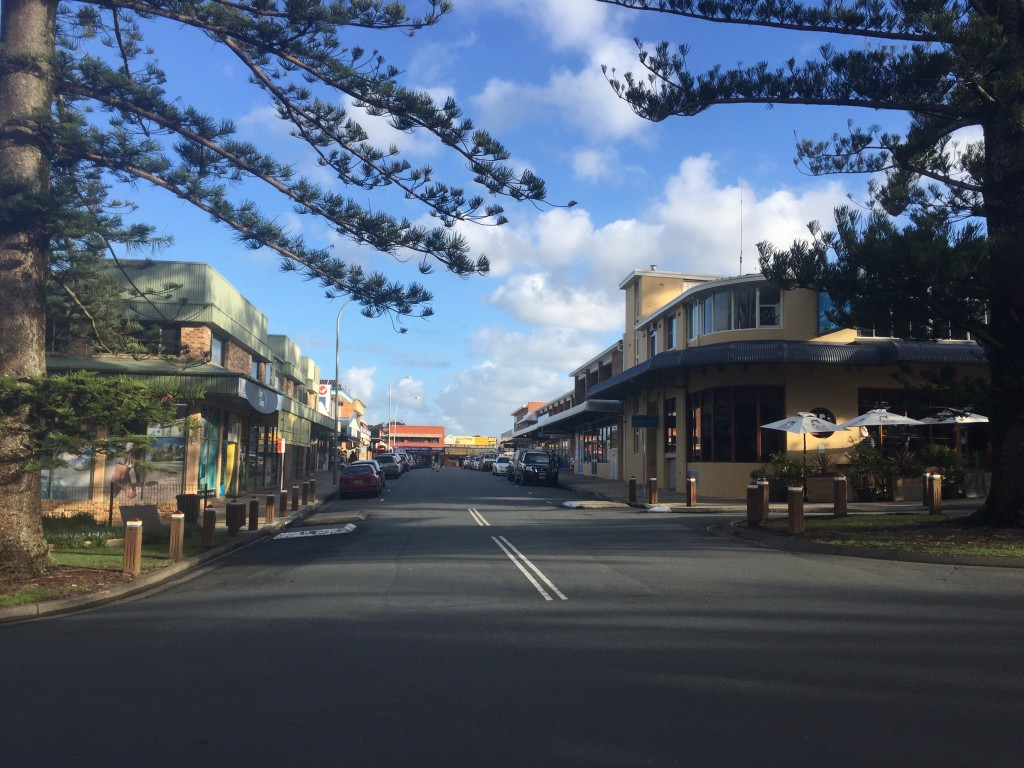 The main street of South West Rocks