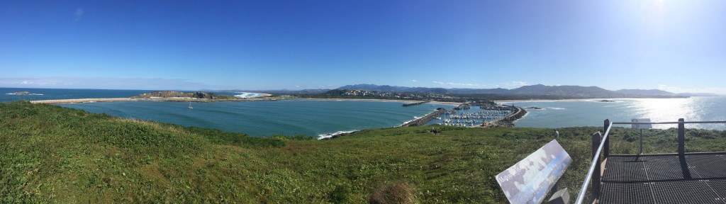 A panoramic view of Coffs Harbour