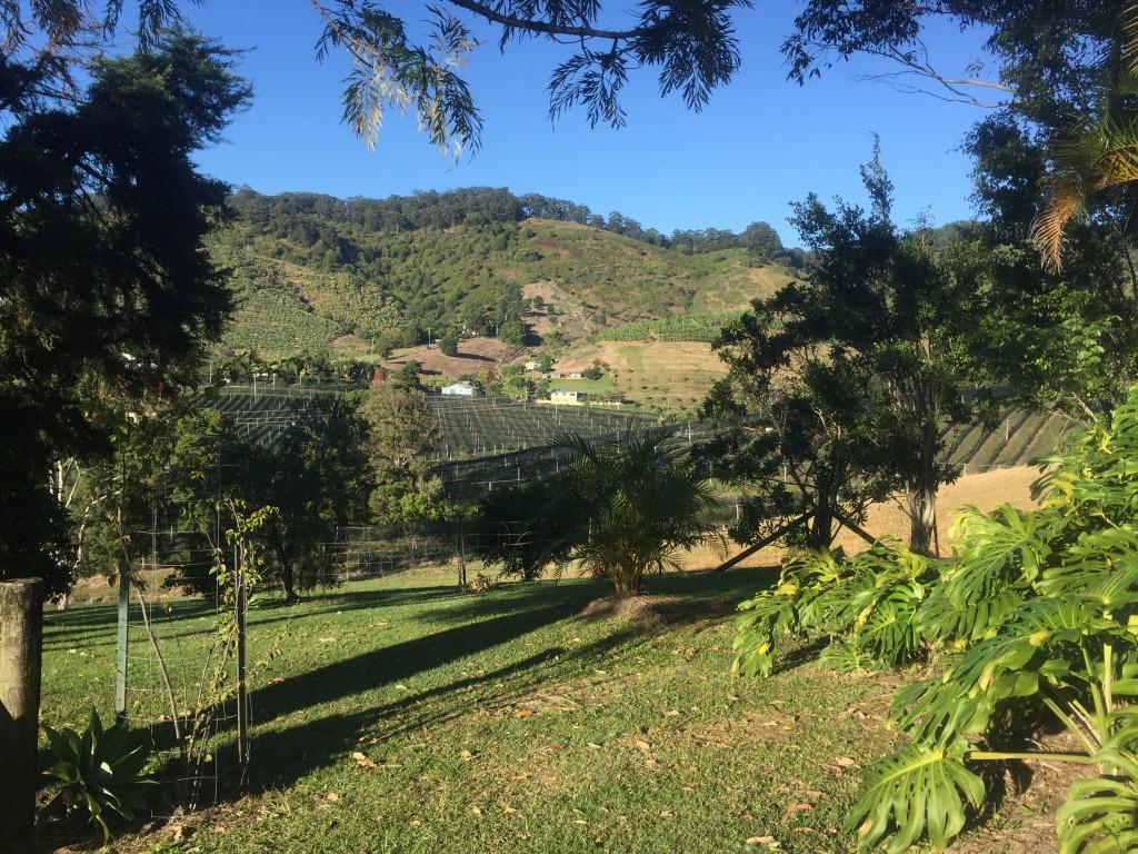 Farmland through the hills
