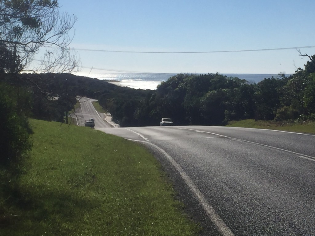 View from the Coast Road just north of Ballina
