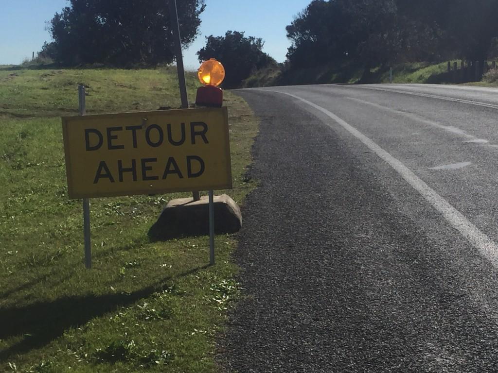 Detour?!?! Boooooo!